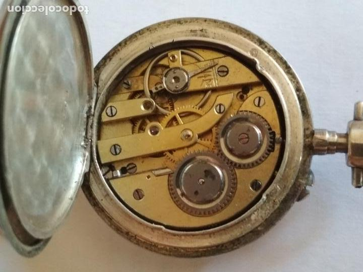 Relojes de bolsillo: RELOJ DE BOLSILLO CABALLERO, FUNCIONANDO NECESITA REVISION, MEDIDA 40 MM, PLATA - Foto 4 - 133597006
