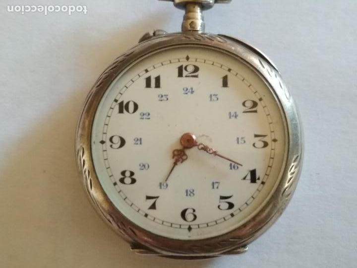 Relojes de bolsillo: RELOJ DE BOLSILLO CABALLERO, FUNCIONANDO NECESITA REVISION, MEDIDA 40 MM, PLATA - Foto 6 - 133597006