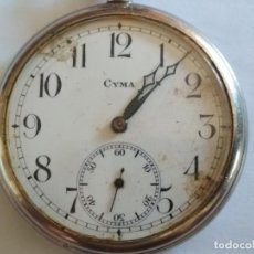 Relojes de bolsillo: RELOJ DE BOLSILLO, MARCA CYMA, NO FUNCIONA, MEDIDA 50 MM, ACERO. Lote 133597762