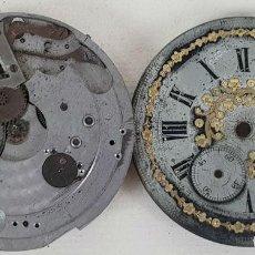 Relojes de bolsillo: MAQUINARIA DE RELOJ DE BOLSILLO Y ESFERA. IDEAL RECAMBIOS. SIGLO XX. . Lote 133698322