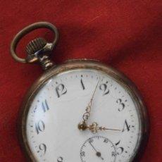 Relojes de bolsillo: RELOJ ANTIGUO DE BOLSILLO MECÁNICO SUIZO DE PLATA, FUNCIONA DEFECTO CUERDA MANUAL, AÑO 1880 - 1900. Lote 133977670