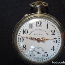 Relojes de bolsillo: RELOJ BOLSILLO LEPINE, GRE ROSKOPF PATENT, NIQUEL Y CROMP,SUIZA PP S XX,FUNCIONANDO. Lote 112304728