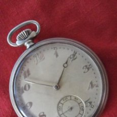 Relojes de bolsillo: ANTIGUO RELOJ MECÁNICO DE BOLSILLO A CUERDA MECÁNICA USO MILITAR ALEMÁN JUNGHANS AÑOS 30 FUNCIONA . Lote 134381478
