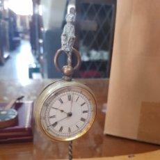 Relojes de bolsillo: RELOJERA Y RELOJ GRONOGRAFO DE BOLSILLO NO ANDA EL RELOJ. Lote 134400842