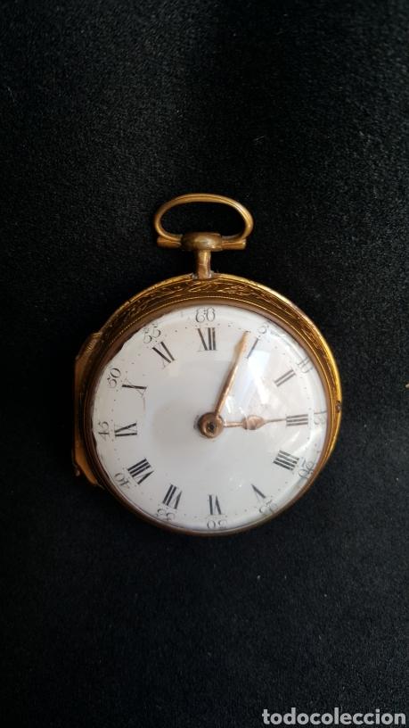 RELOJ DE BOLSILLO F. SHIRWILL LONDON SIGLO XVIII (Relojes - Bolsillo Carga Manual)