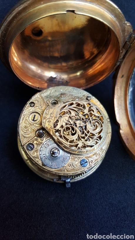 Relojes de bolsillo: RELOJ DE BOLSILLO F. SHIRWILL LONDON SIGLO XVIII - Foto 3 - 134763773