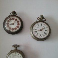 Relojes de bolsillo: LOTE DE 3 RELOJES BOLSILLO, 2 MARCA ROSKOPF Y UNO CRONÓMETRO MILITAR, NO FUNCIONAN.. Lote 134997750