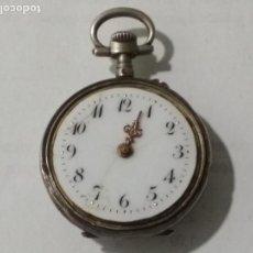 Relojes de bolsillo: RELOJ DE BOLSILLO CAJA LABRADA, PLATA, MEDIDA 30 MM, NO FUNCIONA. Lote 135024766