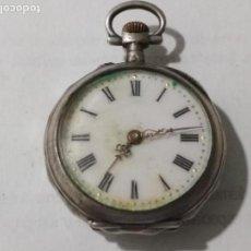 Relojes de bolsillo: RELOJ DE BOLSILLO, MEDIDA 30 MM, NO FUNCIONA, PLATA. Lote 135026110