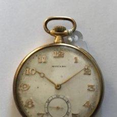 Relojes de bolsillo: RELOJ DE BOLSILLO MOVADO ORO 1940. Lote 135122098