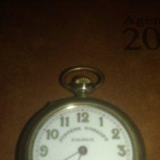Relojes de bolsillo: RELOJ BOLSILLO ENORGA SISTEMA ROSKOPF FINALES SIGLO XIX. FUNCIONA. Lote 135528251