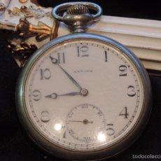 Relojes de bolsillo: PRECIOSO RELOJ LEPINE DE BOLSILLO ZENITH CON GUARDA POLVO. Lote 135618838