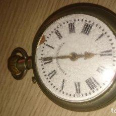 Relojes de bolsillo: ROSKOPF PATENT DE ESTRELLA DE 5 PUNTAS LOBULADA DE 1895, FUNCIONA, ENORME DE 58 MM. Lote 135700883