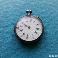 Relojes de bolsillo: RELOJ ANTIGUO DE BOLSILLO CON CAJA DE PLATA. Lote 136054926