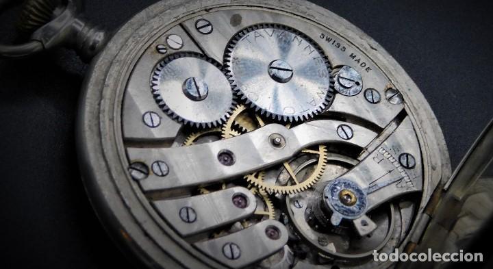 Relojes de bolsillo: RARO-TAVANNES WATCH Co.-RELOJ DE BOLSILLO SABONETA-ESFERA BRAILLE-CIRCA 1920-3 TAPAS-FUNCIONANDO - Foto 5 - 136060330