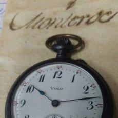Relojes de bolsillo: ANTIGUO RELOJ DE BOLSILLO VOLO CARGA MANUAL 50 MM. VER FOTOS. Lote 136381738