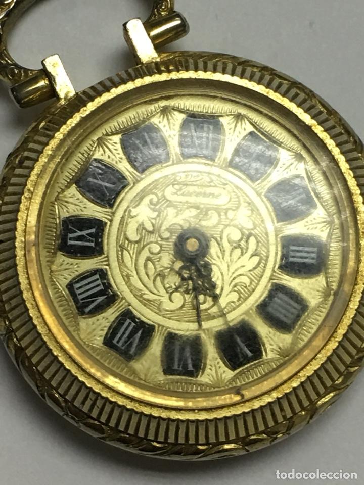 RELOJ DE BOLSILLO LUCERNE CON ESMALTE Y DORADO CARGA MANUAL PARA PIEZAS (Relojes - Bolsillo Carga Manual)