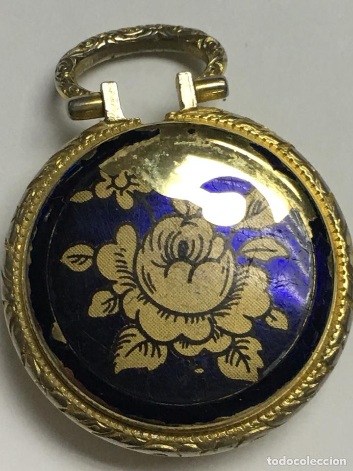 Relojes de bolsillo: Reloj de Bolsillo Lucerne con esmalte y dorado carga manual para piezas - Foto 2 - 136464878