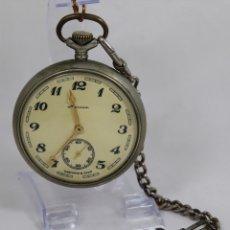 Relojes de bolsillo: ANTIGUO RELOJ DE BOLSILLO RUSO DE LA MARCA MOLNIJA AÑOS 60 CON SILUETA DE IGOR DIATLOV MONTES URALES. Lote 136680345