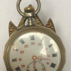 Relojes de bolsillo: RELOJ DE BOLSILLO PLATA FABRICACION FRANCESA FUNCIONANDO CIRCLA1890 5O MM REPASADO PROFESIONAL. Lote 136806806