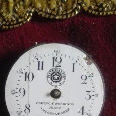 Relojes de bolsillo: ESFERA DE PORCELANA ROSKOPF.CUERVO Y SOBRINOS.UNICOS IMPORTADORES. Lote 137205450