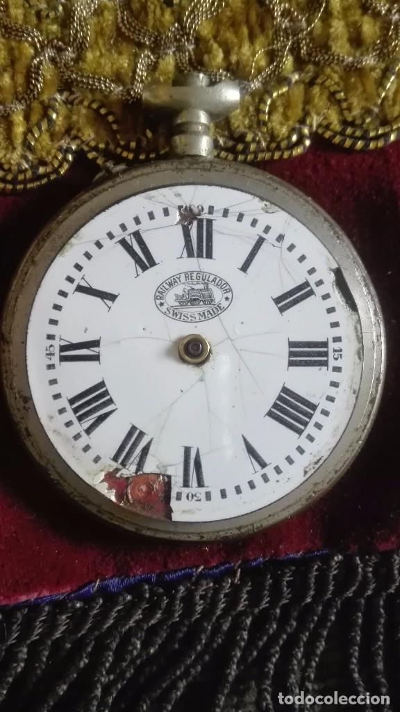 RELOJ RAILWAY REGULADOR.ORIGINAL.ANTIGUO (Relojes - Bolsillo Carga Manual)
