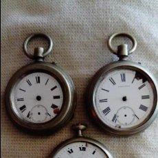 Relojes de bolsillo: TRES RELOJES DE BOLSILLO PARA RECAMBIOS . Lote 137280326