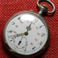Relojes de bolsillo: PLATA REPUJADA - RELOJ DE CABALLERO - PESO 50 GRAMOS - DIAMETRO 45 MM - CON MARCAJES. Lote 137344446