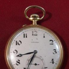 Relojes de bolsillo: RELOJ DE ORO LONGINES AÑO 1926 FUNCIONA BIEN. Lote 137560914