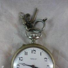 Relojes de bolsillo: RELOJ DE BOLSILLO CHRONOMETRO NAVAL - FUNCIONA - ANTONIO SAIZ - CASTELLÓN. Lote 137640282