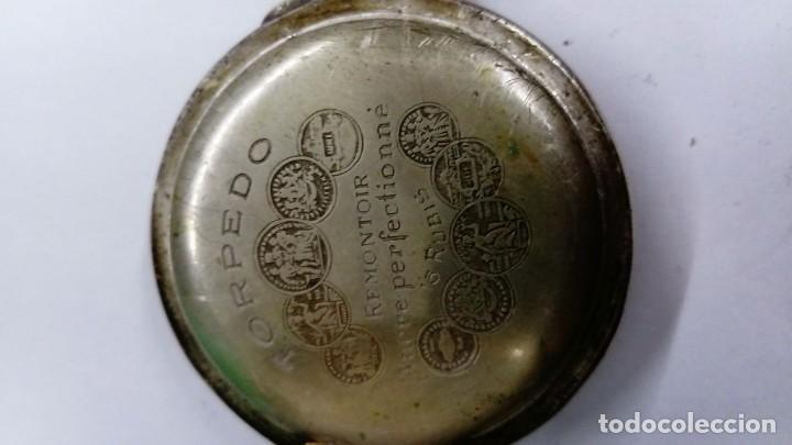 Relojes de bolsillo: Antiguo Reloj Torpedo de bolsillo - Foto 3 - 138055730