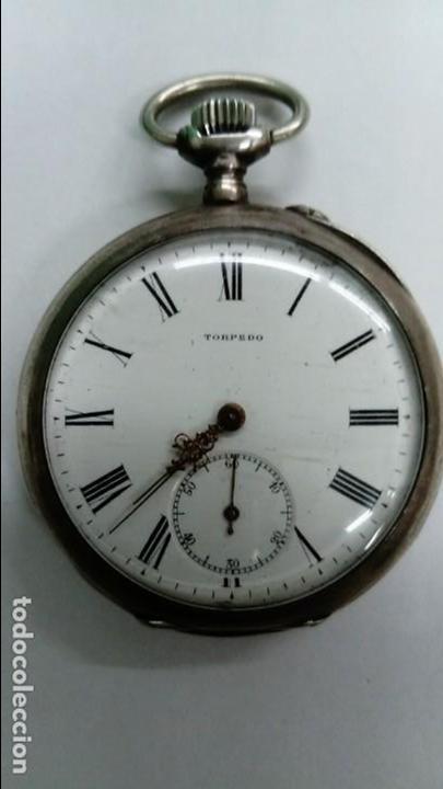 ANTIGUO RELOJ TORPEDO DE BOLSILLO (Relojes - Bolsillo Carga Manual)