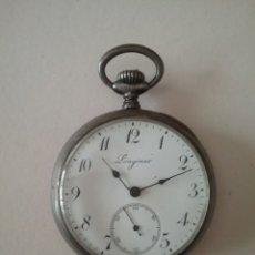 Relojes de bolsillo: RELOJ BOLSILLO LONGINES EN PLATA. FUNCIONA. Lote 138108317
