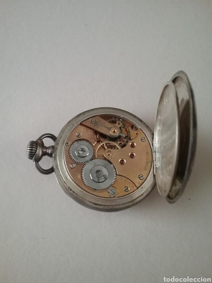 Relojes de bolsillo: Reloj bolsillo Longines en plata. Funciona - Foto 3 - 138108317