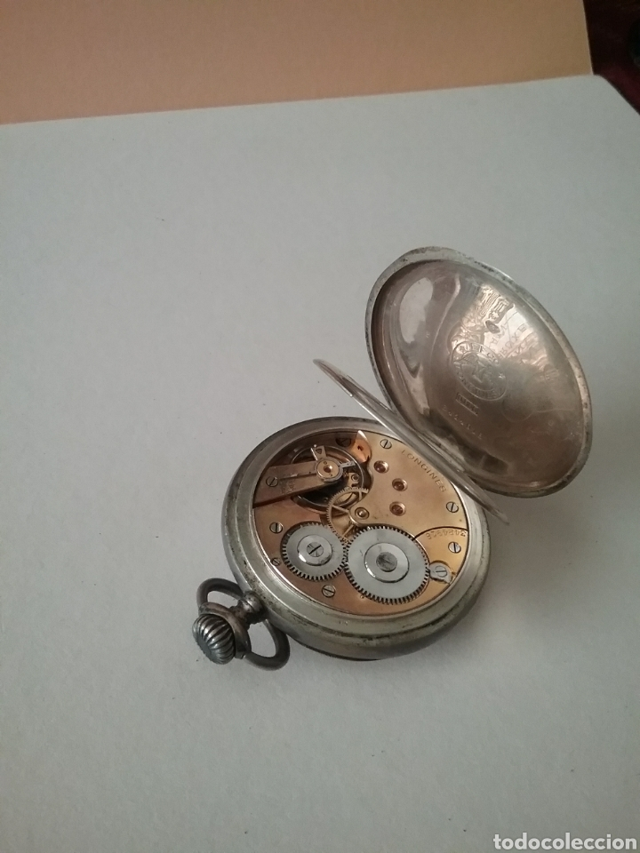 Relojes de bolsillo: Reloj bolsillo Longines en plata. Funciona - Foto 4 - 138108317