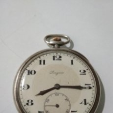 Relojes de bolsillo: ANTIGUO RELOJ DE BOLSILLO, MARCA LONGINES, PLATA, FUNCIONANDO. Lote 138318358
