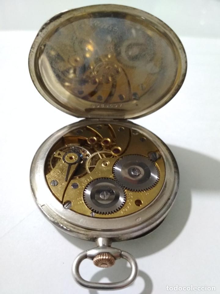 Relojes de bolsillo: ANTIGUO RELOJ DE BOLSILLO, MARCA LONGINES, PLATA, FUNCIONANDO - Foto 2 - 138318358