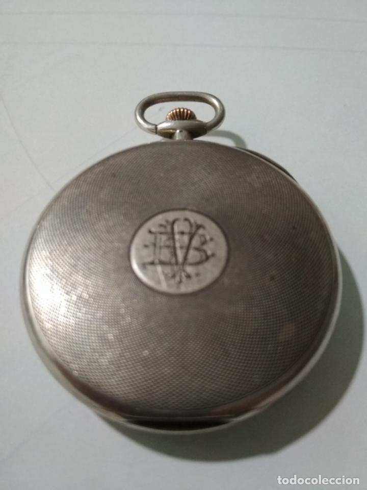 Relojes de bolsillo: ANTIGUO RELOJ DE BOLSILLO, MARCA LONGINES, PLATA, FUNCIONANDO - Foto 3 - 138318358