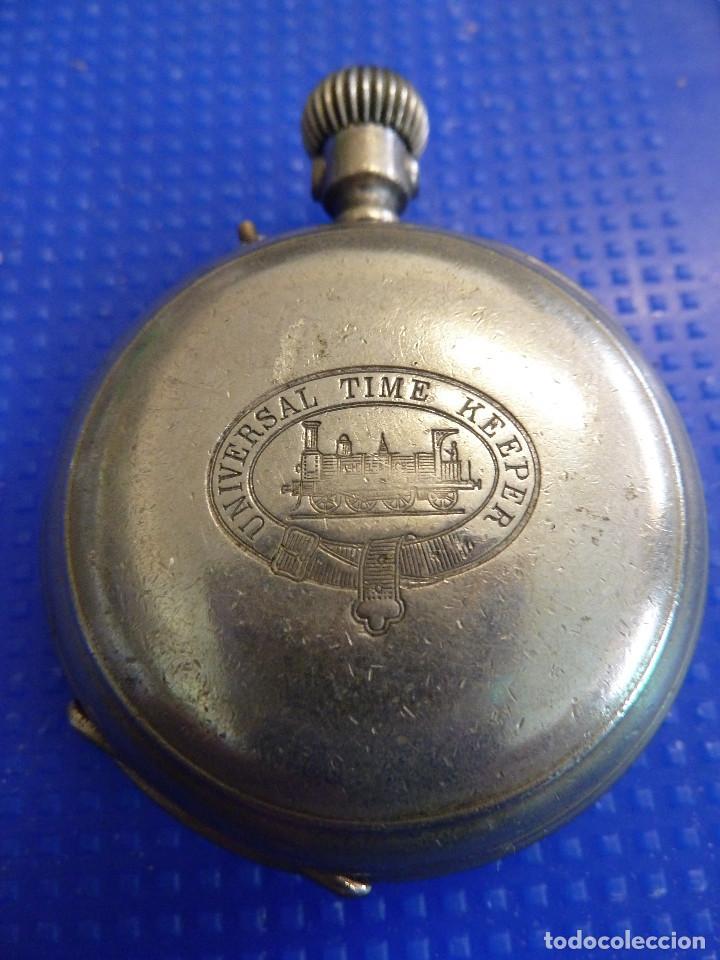 Relojes de bolsillo: RELOJ DE BOLSILLO UNIVERSAL TIME KEEPER - Foto 3 - 138579238