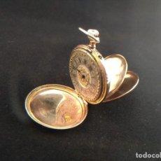 Relojes de bolsillo: ORO 18K., ANTIGUO RELOJ SABONETA. REMONTOIR DIX RUBI.. Lote 138609522
