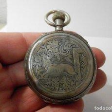 Relojes de bolsillo: RELOJ DE BOLSILLO ANTIGUO, SABONETA, TRES TAPAS, PLATA, 53 MM SIN CONTAR CORONA,15 RUBIS. Lote 143597052
