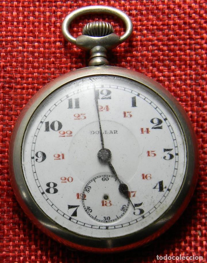 RELOJ DE CARGA MANUAL DE ACERO . MARCA DOLLAR - CABALLERO - 44 MM DIAMETRO SIN CORONA (Relojes - Bolsillo Carga Manual)