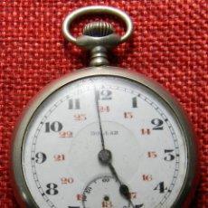 Relojes de bolsillo: RELOJ DE CARGA MANUAL DE ACERO . MARCA DOLLAR - CABALLERO - 44 MM DIAMETRO SIN CORONA. Lote 138687570