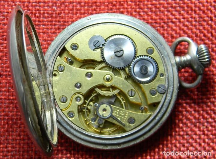 Relojes de bolsillo: Reloj de carga manual de acero . Marca Dollar - Caballero - 44 mm diametro sin corona - Foto 11 - 138687570