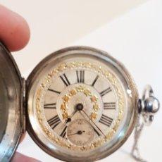Relojes de bolsillo: ANTIGUO RELOJ DE BOLSILLO - PLATA - TRES TAPAS - 58 MM - DUBOIS LOCLE - ANCRE LIGNE DROITE. Lote 148138112