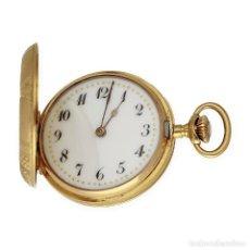 Relojes de bolsillo: PATEN MEDAILLES ORO ROSA DE LEY RELOJ DE BOLSILLO MOVIMIENTO DE CUERDA AÑO 1896. Lote 139399974
