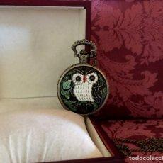 Relojes de bolsillo: RELOJ DE BOLSILLO CHINO EN CLOISONNE CON BUHO.. Lote 207460518