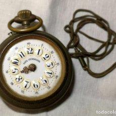 Relojes de bolsillo: RELOJ PAUL HEMMELER. PORCELANA, METAL PAVONADO Y ESMALTE. NO FUNCIONA. SUIZA. S. XIX. Lote 139680806