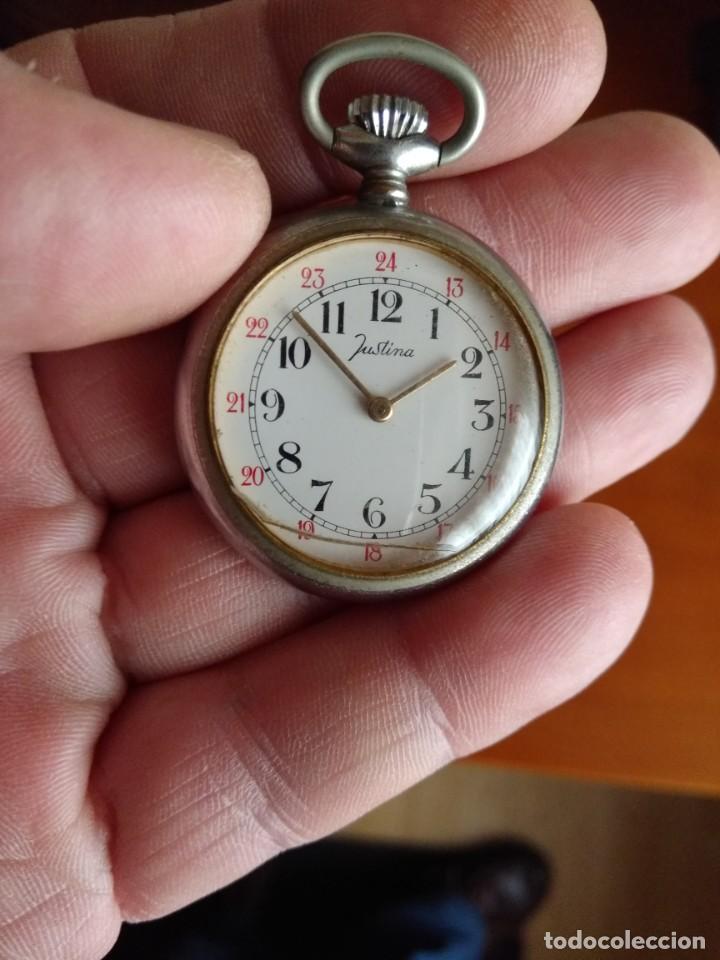 71076cd9b35c Reloj de bolsillo justina (funciona) - España - Reloj de bolsillo de carga  manual
