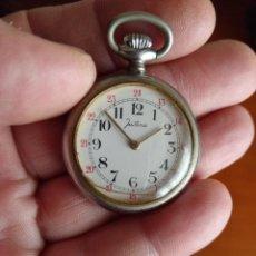 Relojes de bolsillo: RELOJ DE BOLSILLO JUSTINA (FUNCIONA). Lote 139817986
